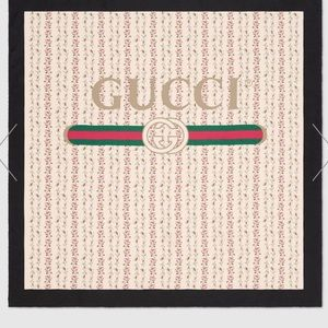 Gucci - Logo Rose Print Silk Scarf
